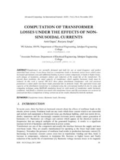 COMPUTATION OF TRANSFORMER LOSSES UNDER THE …