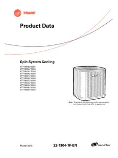 Trane Product Data - Split System Cooling 4TTR4-L …