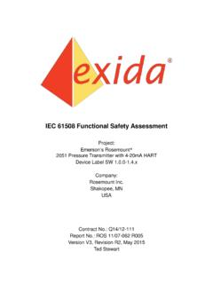 IEC 61508 Functional Safety Assessment - Emerson
