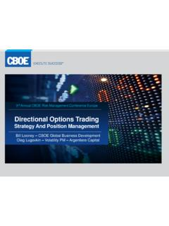 Directional Options Trading - Cboe