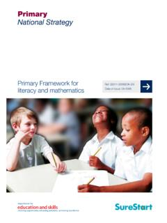 Primary Frameworks for literacy and mathematics Primary ...