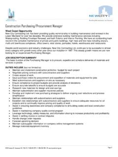 Construction Purchasing/Procurement Manager