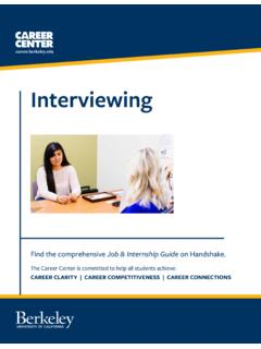 Interviewing - Career Center