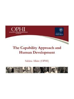 The Capability Approach and Human Development