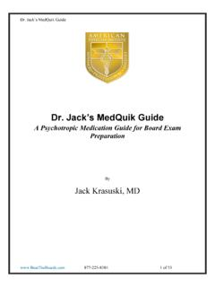Dr. Jack's MedQuik Guide - The Pass Machine
