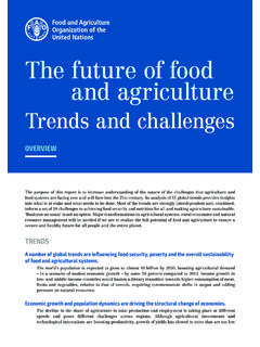 The future of food nd agriculturea - Home | Food and ...