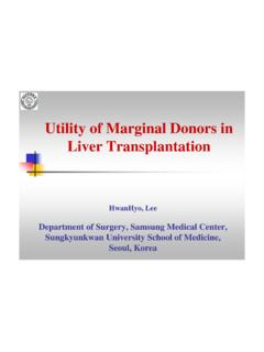 Utility of Marginal Donors in Liver Transplantation