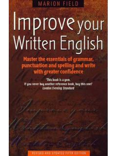 Improveyour Written English - University of Babylon