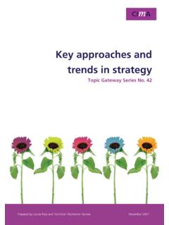 Key Approaches and Trends in Strategy - CIMA