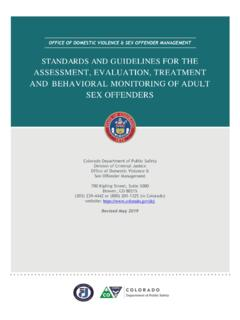 STANDARDS AND GUIDELINES FOR THE ASSESSMENT, …