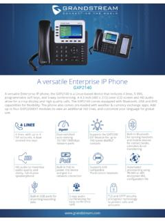 A versatile Enterprise IP Phone - Grandstream …