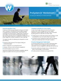 ProSystem fx Workstream - Tax and Accounting Solutions