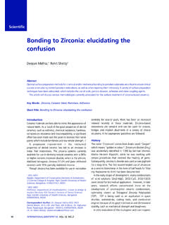 Bonding to Zirconia: elucidating the confusion