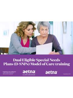 Dual Eligible Special Needs Plans (D-SNPs)
