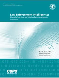 Law Enforcement Intelligence - Office of Justice Programs