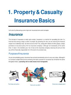 1. Property & Casualty Insurance Basics