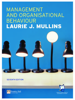 MANAGEMENT AND ORGANISATIONAL BEHAVIOUR LAURIE …