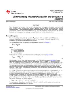 Understanding Thermal Dissipation and Design of …