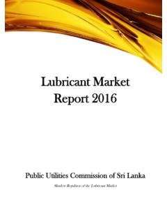 Lubricant Market Report 2016 - PUCSL