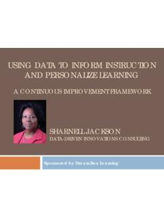 USING DATA TO INFORM INSTRUCTION AND PERSONALIZE …