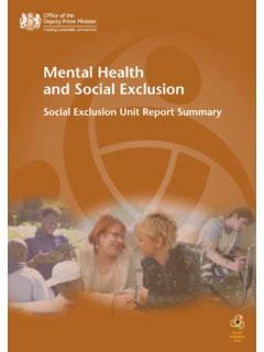 Mental Health and Social Exclusion - NFAO