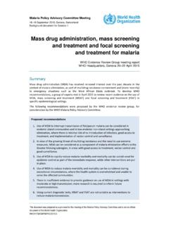 Mass drug administration, mass screening and …
