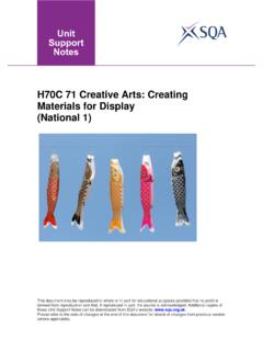 H70C 71 Creative Arts: Creating Materials for …