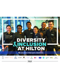 DIVERSITY INCLUSION AT HILTON - newsroom.hilton.com
