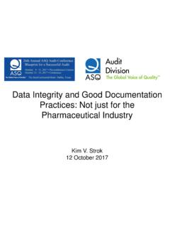 Data Integrity and Good Documentation Practices: …