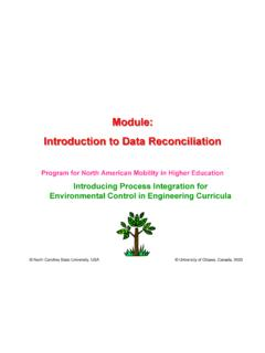 Basic Concepts in Data Reconciliation Module: …