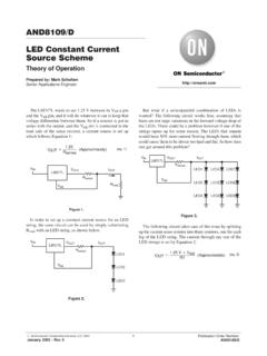 LED Constant Current Source Scheme - ON …