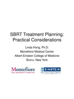 SBRT Treatment Planning: Practical Considerations