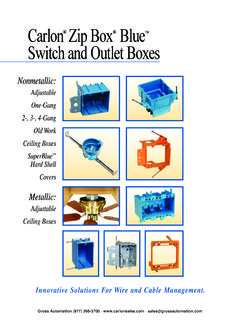 Carlon Zip Box Blue Switch and Outlet Boxes