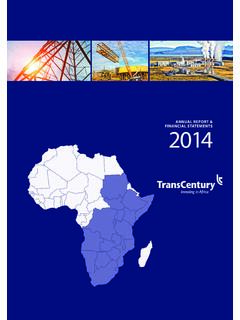 ANNUAL REPORT & FINANCIAL STATEMENTS 2014
