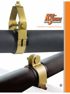 Insulation Coupling Catalog - American Mechanical Insulation