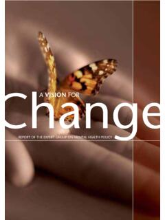 Mental Health - A Vision for Change - HSE.ie