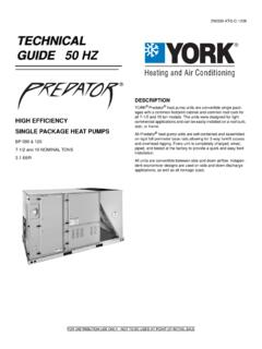 SINGLE PACKAGE HEAT PUMPS - UPGNET