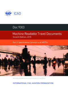 Doc 9303 Machine Readable Travel Documents
