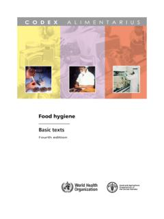 Food hygiene - Food and Agriculture Organization