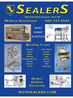 West Coast Plastics Equipment - Since 1945