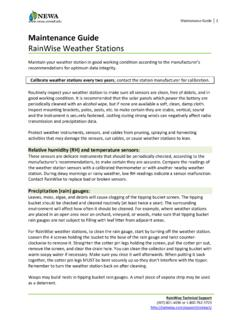 Maintenance Guide RainWise Weather Stations