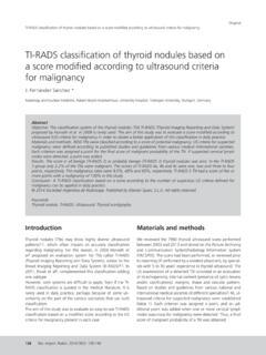 TI-RADS classification of thyroid nodules based on a score ...