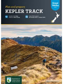 Great Walks Kepler Track - plan and prepare - doc.govt.nz