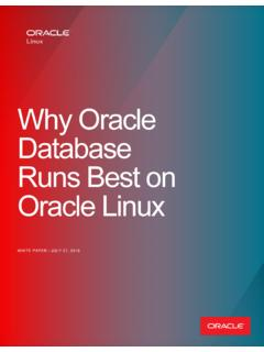 Why Oracle Database Runs best on Oracle Linux