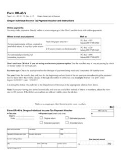 Form OR-40-V, Oregon Individual Income Tax Payment …