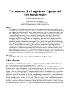 The Anatomy of a Search Engine - Stanford University