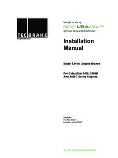 Installation Manual - Diesel Parts, Repair and Service ...