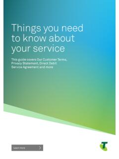 Things you need to know about your service - Telstra