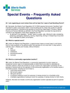 Special Events - Frequently Asked Questions