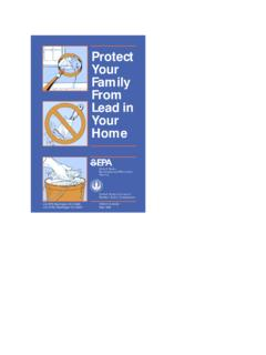 Protect Your Family From Lead in the Home EPA 747-K-94 …